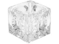 Svícen Masiv sklo 55x55 mm čirý 2v1 na čajovou a kónickou svíčku