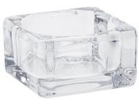 Svícen Masiv sklo 75 mm na čaj. svíčku čirý