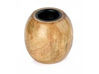 Svícen dřevo 90 mm Masiv lakovaný na čaj. svíčku