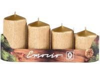 Emocio adventní stupně 4ks 50 mm Drápané zlaté svíčky