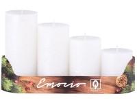 Emocio adventní stupně 4ks 50 mm Rustikální perla bílé svíčky