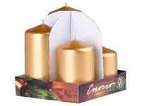 Emocio adventní stupně 4ks 60 mm Metal zlaté svíčky