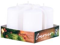 Emocio adventní válec 4ks 38x60 bílé svíčky
