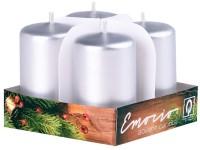 Emocio adventní válec 4ks 38x60 stříbrné svíčky