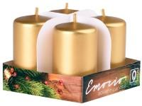 Emocio adventní válec 4ks 38x60 zlaté svíčky