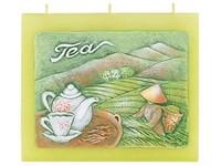 Zelený čaj Plochá 130x110 tři knoty vonná svíčka
