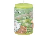 Zelený čaj Válec 60x100 vonná svíčka
