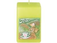Zelený čaj Hranol 50x80 vonná svíčka