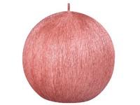 Drápaná koule 70mm Perla měděná svíčka