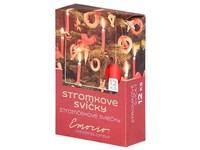 Emocio Stromkové 12ks 12x100 červené svíčky
