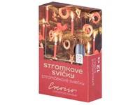 Emocio Stromkové 12ks 12x100 Metal stříbrné svíčky