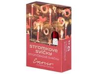 Emocio Stromkové 12ks 12x100 Metal červené svíčky