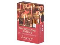 Emocio Stromkové 12ks 12x100 Metal měděné svíčky