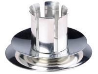 Svícen kov stříbrný stojatý, na domácí akónickou svíčku