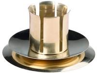 Svícen kov zlatý stojatý, na domácí a kónickou svíčku