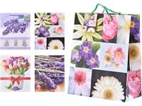 Taška dárková 320x260 mm Květinové motivy mix