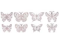 Závěs dřevo 105 mm Motýl mix vzorů