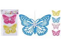 Závěs motýl 2 ks, 120mm mix barev
