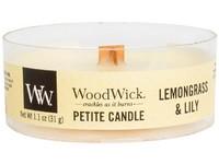 Woodwick Lemongrass & Lily svíčka petite