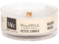 Woodwick Warm Wool svíčka petite