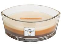 Woodwick Trilogy Café Sweets svíčka loď