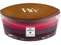 Woodwick Trilogy Sun Ripened Berries svíčka loď