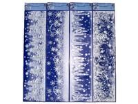 Okenní folie 150x650 mm Bílé s glitrem mix