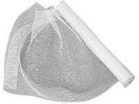 Síťka dekorační průhledno-stříbrná, 54cm x 4,57m