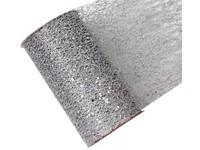 Stuha síť s glittrem stříbrná, 15cm x 2,7m