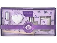 Sada 10 ml jílový difuzér s barevnou stužkou a kulatou lahvičkou se sprejem/Lavender