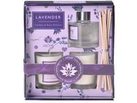 Sada 50 ml jílový difuzér s kulatou lahvičkou Lavender