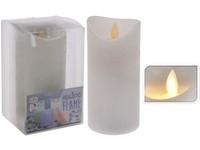 LED svíčka bílá, reálný plamen 75x150 mm měnící barvu s časovačem