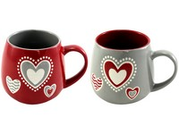 Hrnek keramika 0,5 l. srdce reliéf