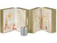 YC.DS Adventní kalenář 3D čaj. 12ks + 12 ks votiv + svícen na votiv/Vánoční dárková sada 2018