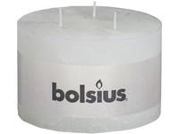 Bolsius Rustik 140x90 3 knoty /bílá