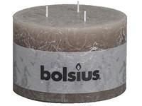 Bolsius Rustik 140x90 3 knoty /hnědošedá