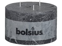 Bolsius Rustik 140x90 3 knoty /antracit