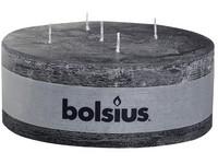 Bolsius Rustik 185x70 5 knotů/antracit