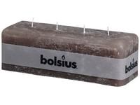 Bolsius Rustik 80x250x90 4 knoty/hnědošedá