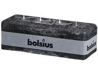 Bolsius Rustik 80x250x90 4 knoty/antracit
