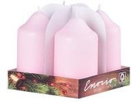 Emocio adventní válec 4ks 50x90 růžové svíčky