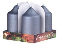 Emocio adventní válec 4ks 50x90 exclusive mat. grafit svíčky