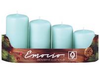 Emocio adventní stupně 4ks prům.40mm mentolová svíčky