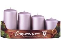 Emocio adventní stupně 4ks prům.40mm exclusive mat. starorůžové svíčky