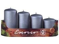 Emocio adventní stupně 4ks prům.40mm exclusive mat. grafit svíčky