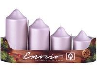 Emocio adventní stupně 4ks prům.50mm exclusive mat. starorůžové svíčky