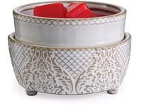Candle Warmers elektrická aromalampa a ohřívač svíček 2v1 Vintage White