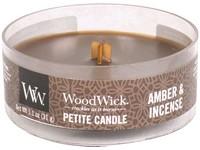 Woodwick Amber & incense svíčka petite