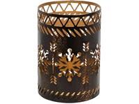 Woodwick Bronze Snowflake svícen na svíčku petite