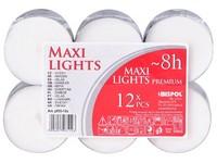 Čajové svíčky MAXI ~8 hod. 12 ks plato
